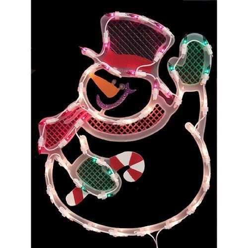 impact innovations christmas lighted window decoration waving snowman by impact innovations read more at the image link this is an affiliate link