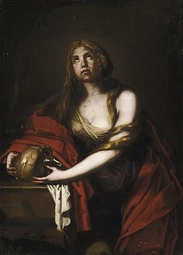 Madeleine pénitente 17e anonyme Napolitain