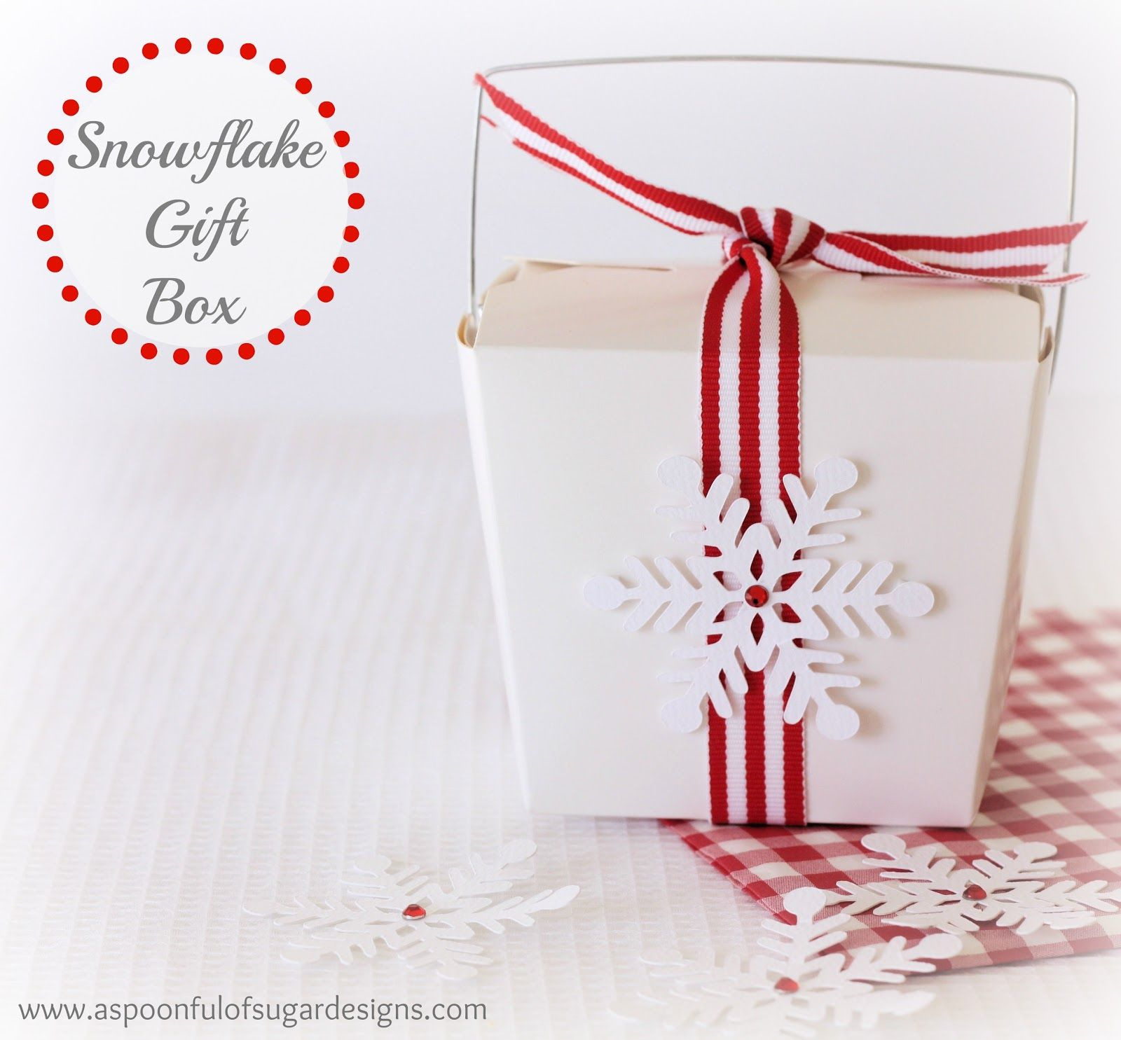 Snowflake Cookies - A Spoonful of Sugar | Creative DIY packaging ...