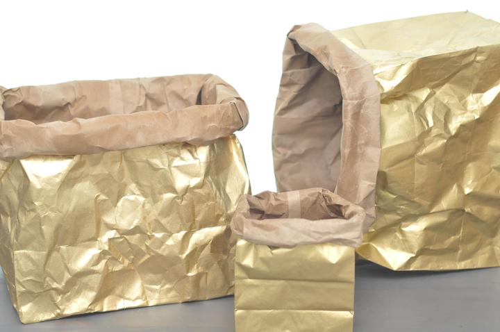 diy | metallic sack