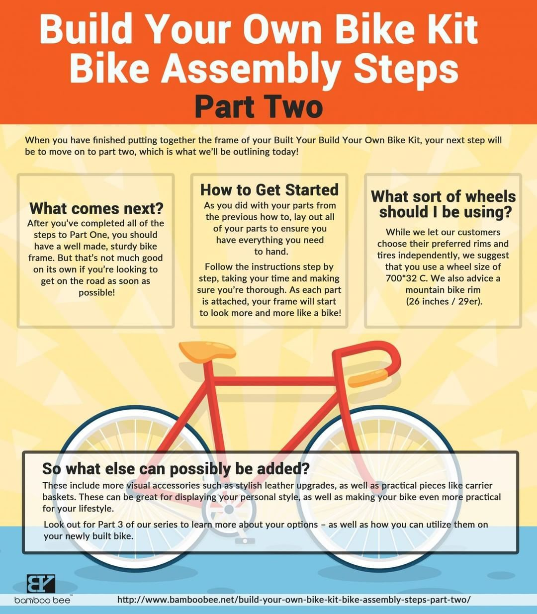 How To Build Your Own Bike Kit Bike Assembly Part 2 Build Your Own Bike Bike Kit Bamboo Bicycle