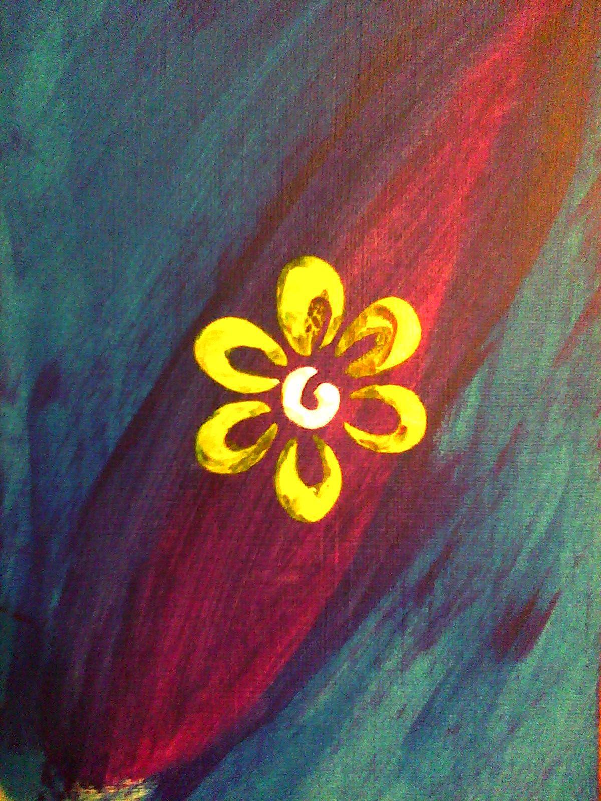 Yellow Flower Art piece
