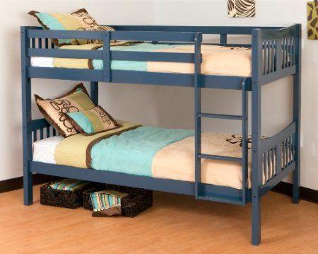 Amazon Com Stork Craft Caribou Bunk Bed Navy Furniture Decor