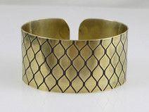 Snake scale - brass bracelet