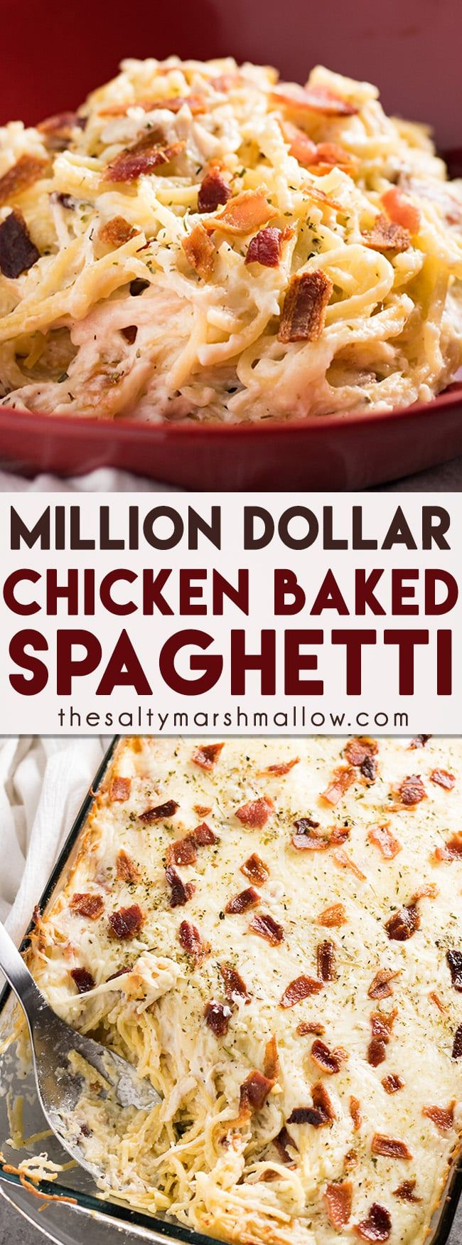 Million Dollar Chicken Spaghetti The Salty Marshmallow Recipe Recipes Chicken Recipes Food