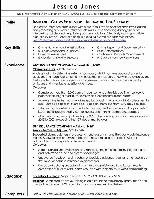 Insurance Agent Resume Job Description Lovely Free