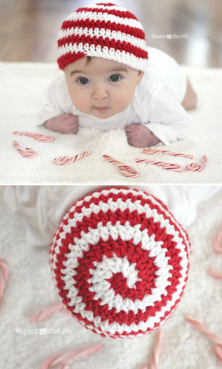 8497cef8453 Candy Cane Hat. Candy Cane Hat Crochet Beanie Hat