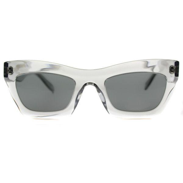 a954311f758 Celine Eva CL 41399 RDN Grey Transparent Cat-Eye Plastic Sunglasses (755  BRL)