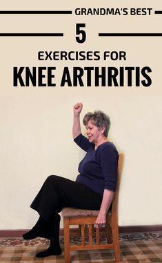 Grandma's Best 5 Exercises For Knee Arthritis #bicepsworkout Grandma's Best 5 Exercises For Knee Art...