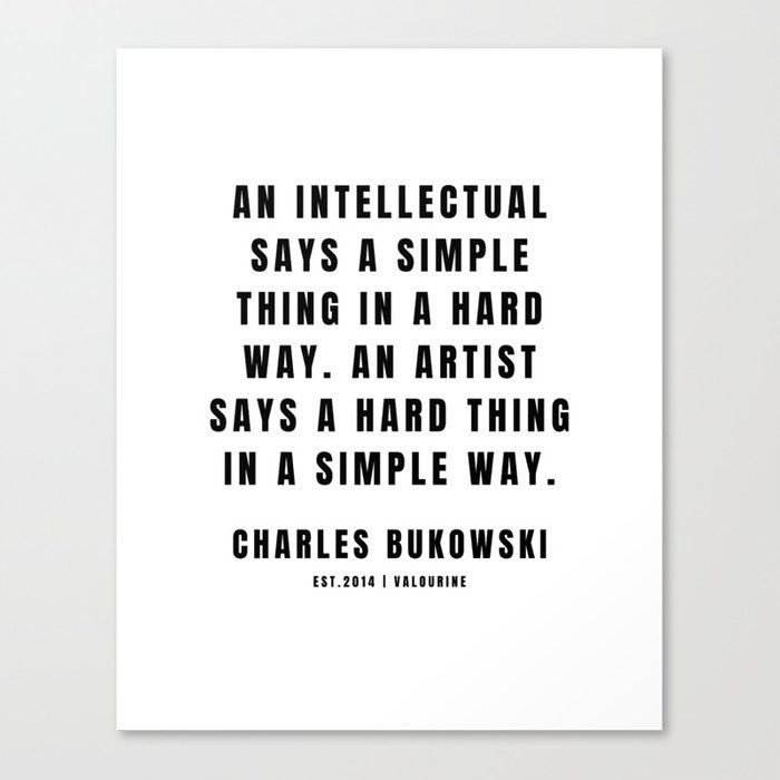 7 | Charles Bukowski | 201221| Poem Poet Poetry | Dark Humor| Writer Literature Literay Famous Canvas Print by Quotes And Sayings