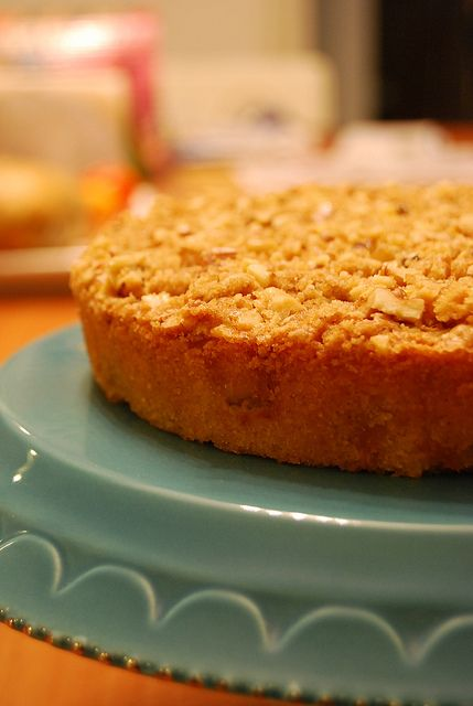 Brown Butter Pear Crumble Cake