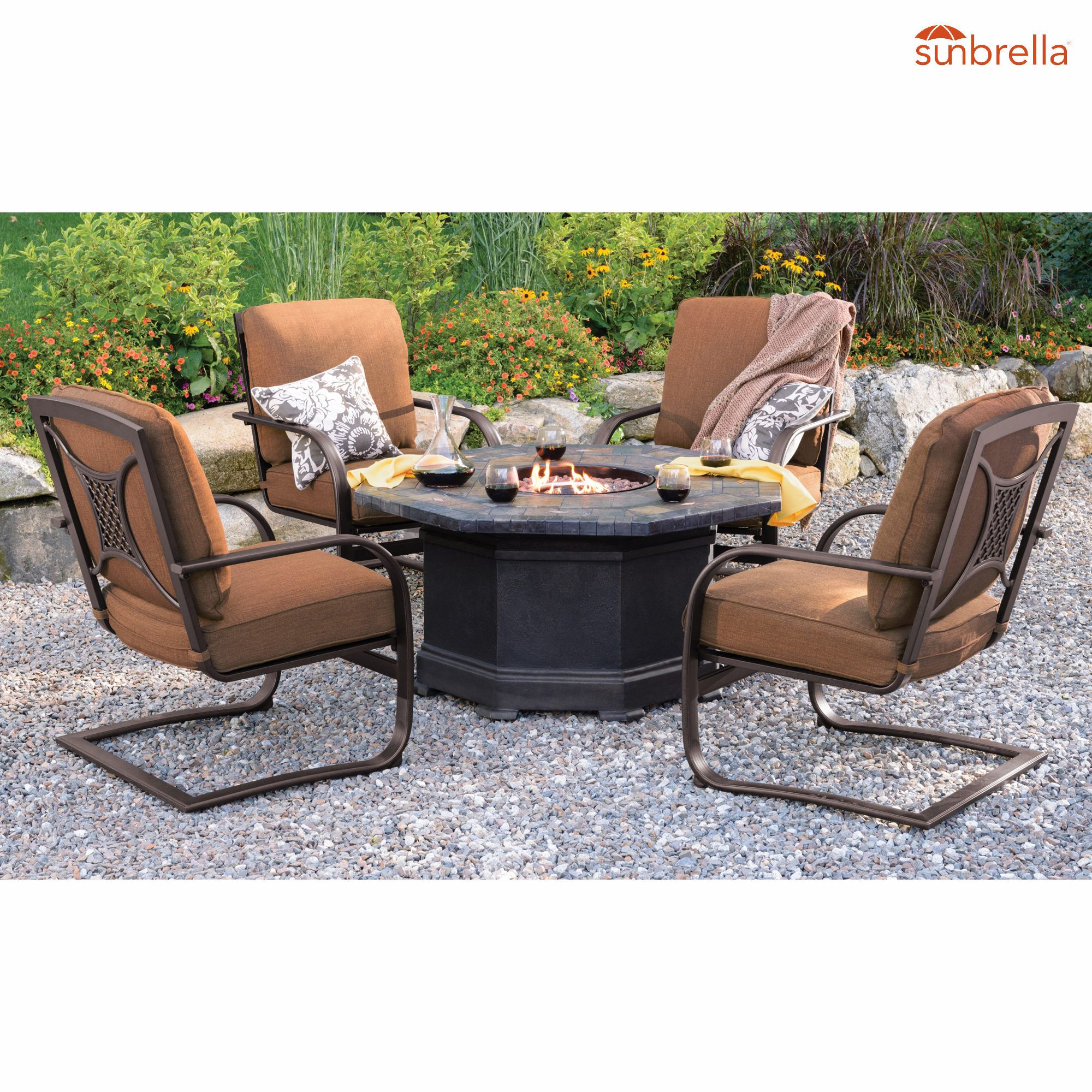 Berkley Jensen Calais 5 Pc Fire Pit Chat Set Bjs Wholesale Club