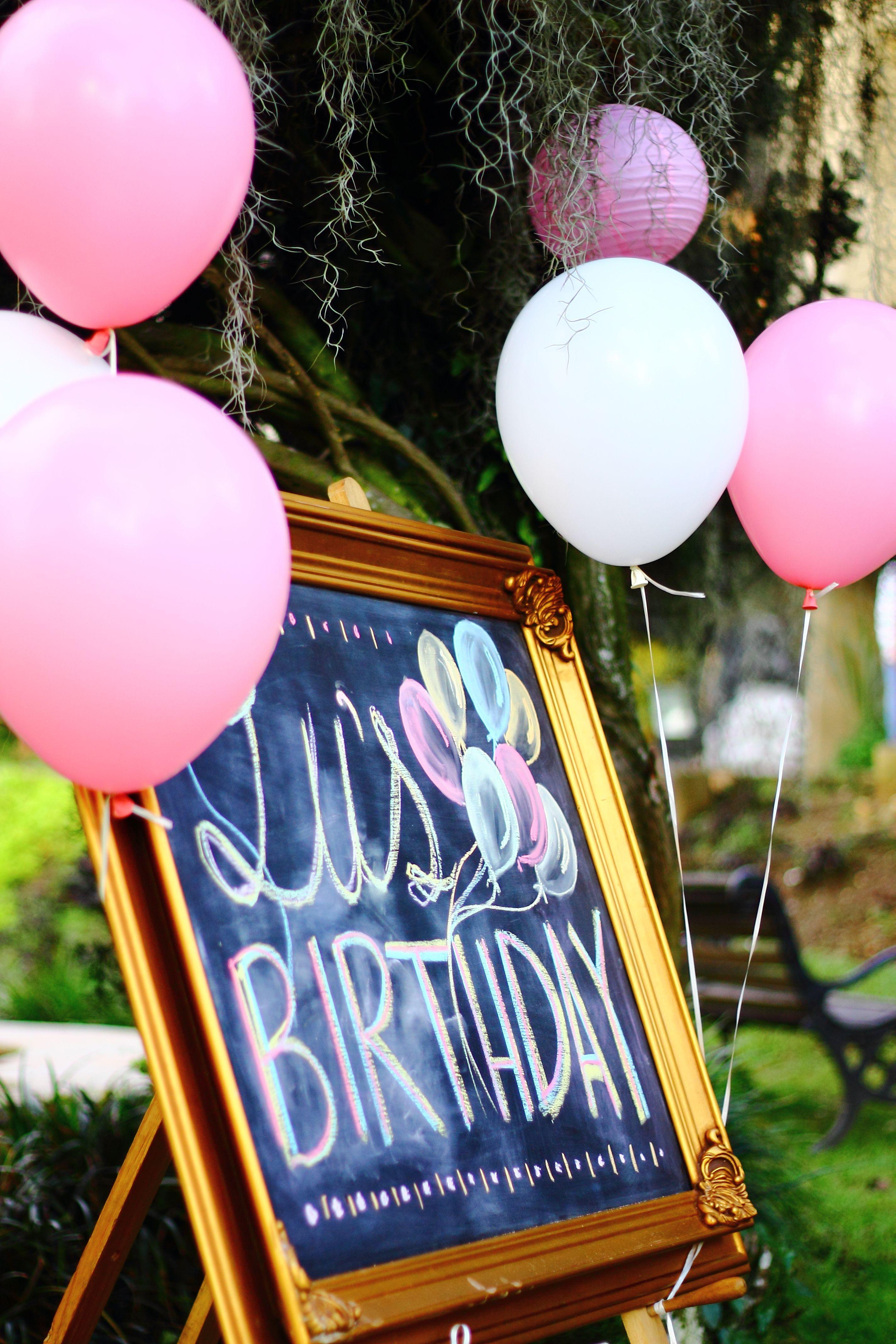 Diy Chalkboard Birthday Party Decoration, Just Pick A Vintage Frame