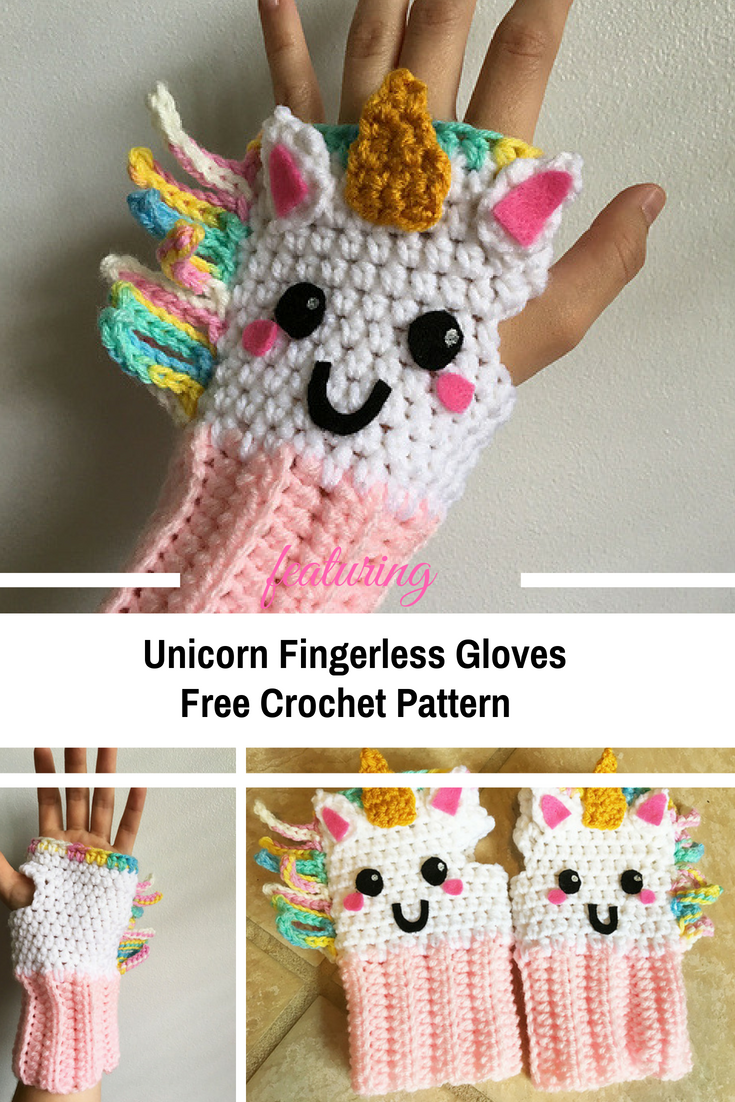 Colorful, Unique And Weather Friendly Unicorn Fingerless Gloves ...