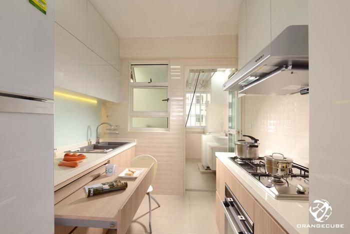 Kitchen Design Ideas 8 Stylish And Practical Hdb Flat Gallery Kitchens Home Decor Singapore Closed Kitchen Design Scandinavian Kitchen Design Interior Design Singapore