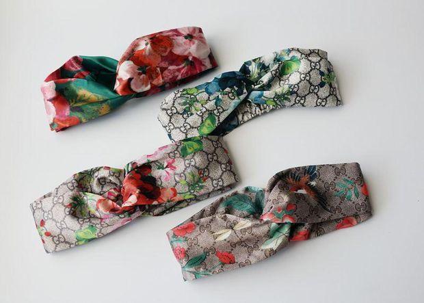 5072fd26d72 GUCCI Blooms Print Silk Headband