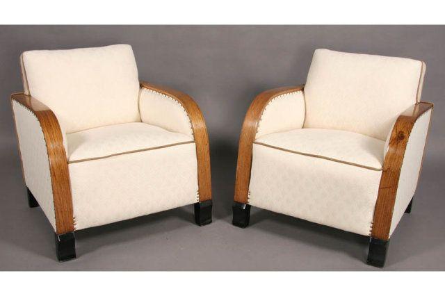 Exceptionnel Art Deco Armchairs 2