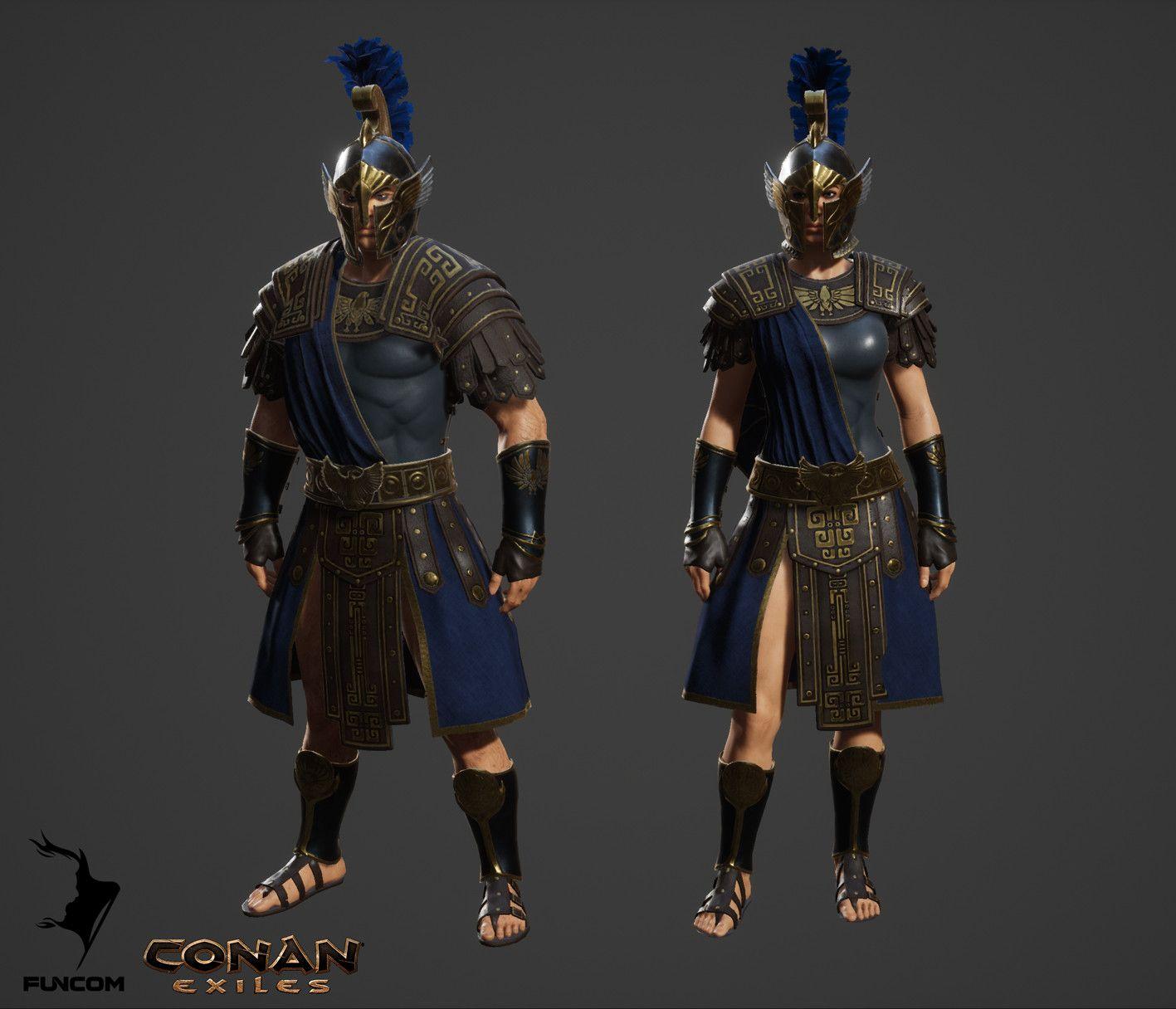 ArtStation - Conan Exiles armor and clothing, part 1, Jenni