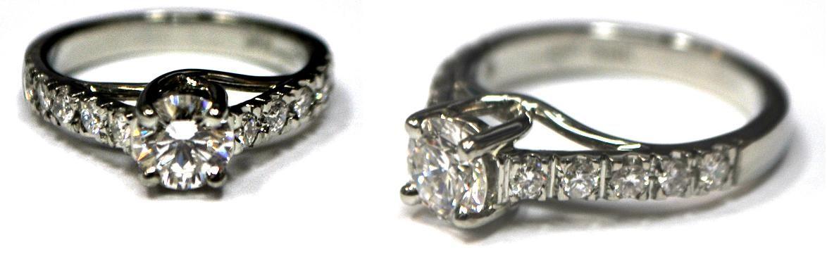 Custom Twist Setting Diamond Engagement Ring
