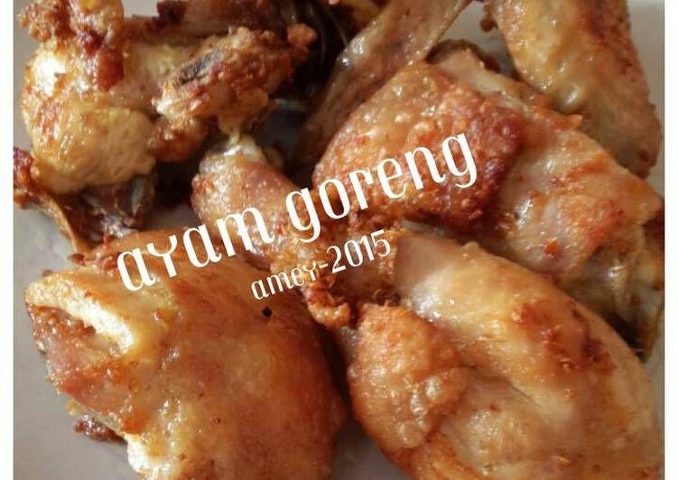 Resep Ayam Goreng Simple Dan Enak Oleh Amei Resep Ayam Goreng Resep Ayam Makanan