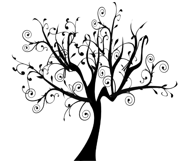 bare apple tree clipart. bare tree branch clip art | vine swirl apple clipart e