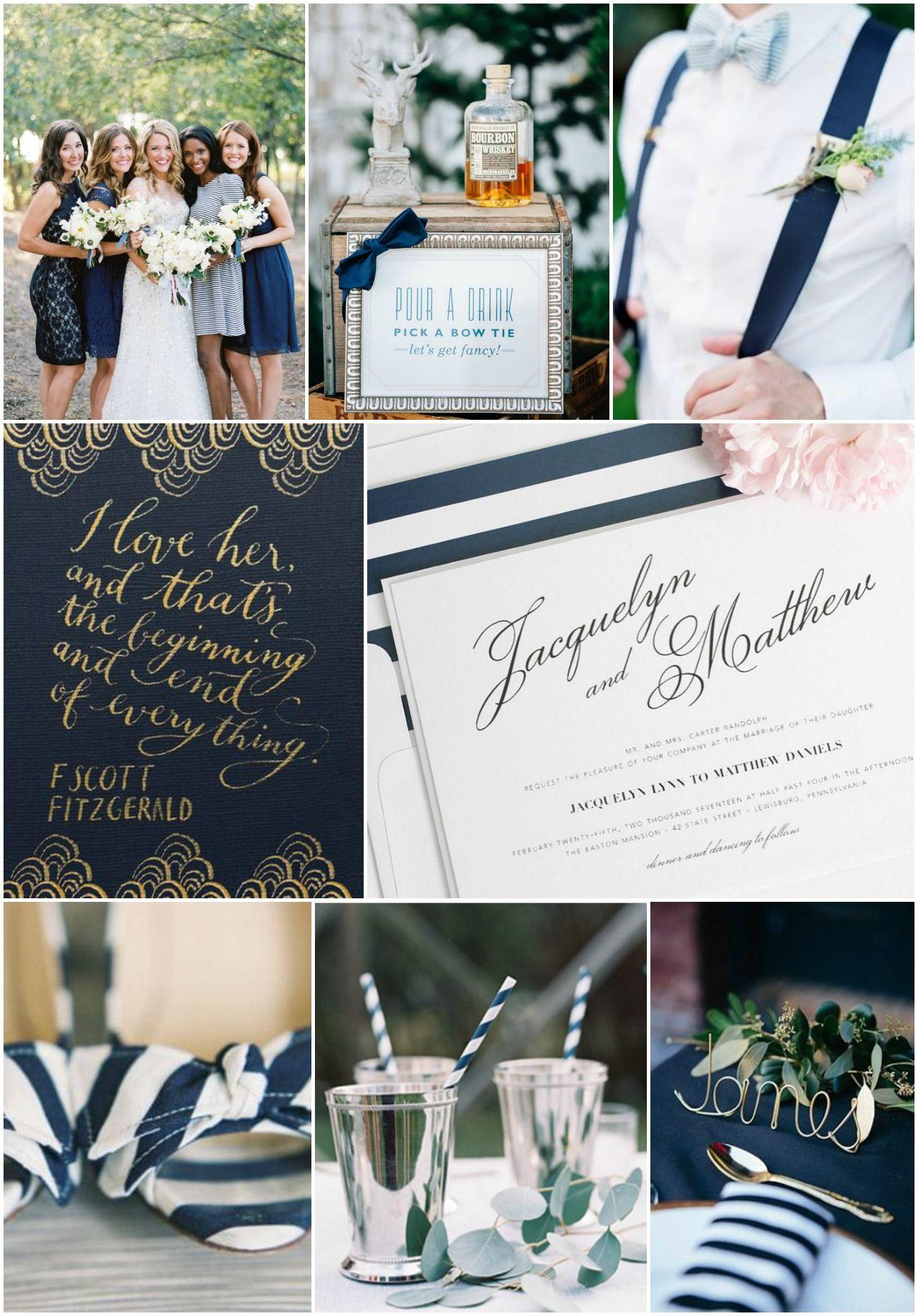 Vintage Navy Wedding Inspiration | Pinterest | Vintage romance ...