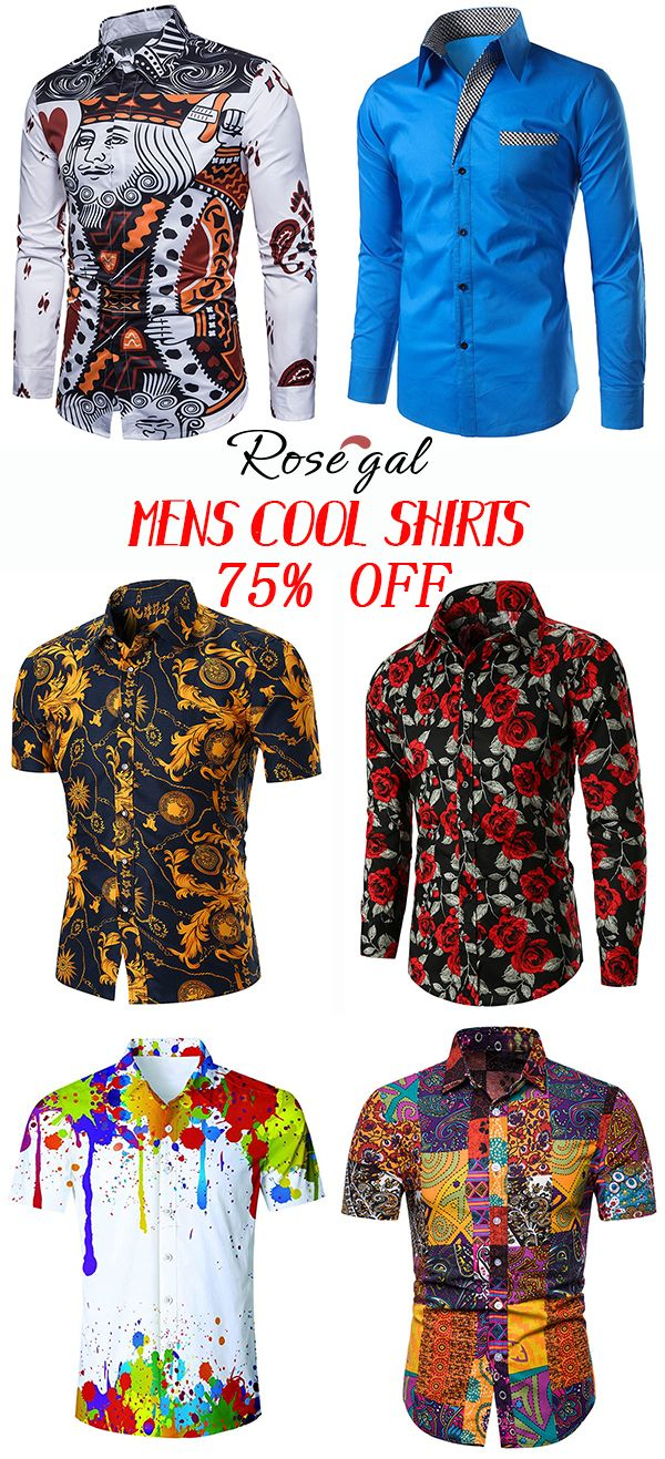 Rosegal mens cool shirts summer fashion is part of food-recipes - food-recipes