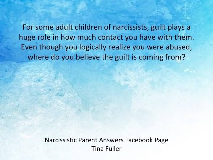 can a narcissist feel guilty