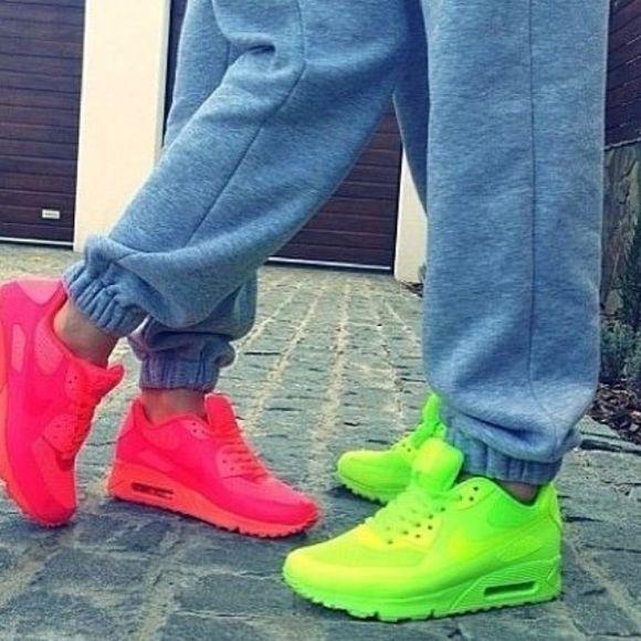 Shoes: neon yellow nike air nike airmax, neon, tidy