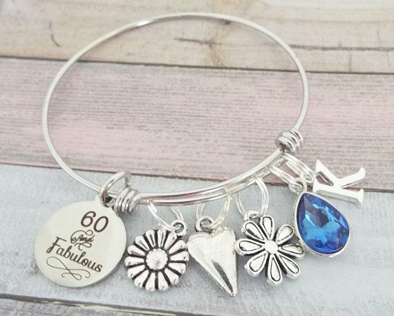 Gift For Friend Turning 60 60th Birthday Bracelet Personalized Jewelry