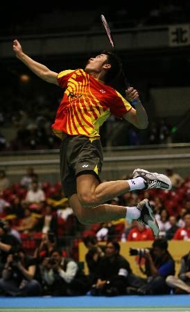 Lin Dan Jump Smash Badminton Sport Badminton Photos Badminton Smash