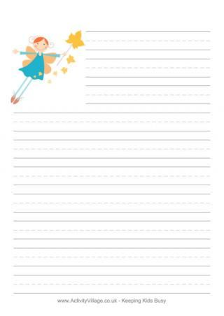 If I were a fairy writing paper autumn fairy writing paper here - lined paper for printing