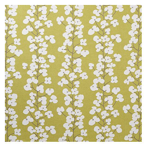Buy John Lewis Wallflower Curtain, New Fennel from our Made to ...