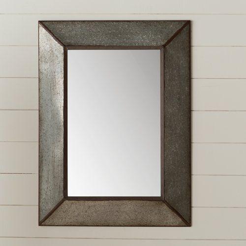 Rectangle Antique Galvanized Metal Accent Mirror Accent Mirrors Mirror Rectangular Mirror