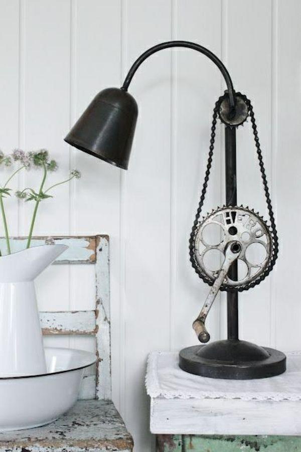 fahrrad teile diy möbel stehlampe wohnideen Basteln Pinterest - wohnideen zum selber bauen