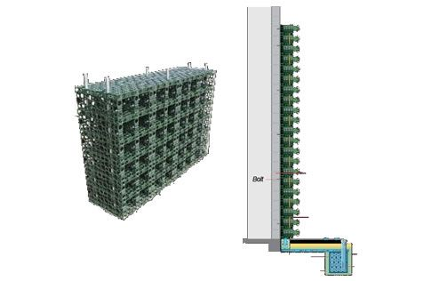 Another modular vertical gardening prototype that hints at for Vertical garden wall systems