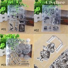 2015 new clear stamps flower/plant/straw pattern silicone Transparent Seals papercrafts scrapbooking decorating rubber stamp(China (Mainland))