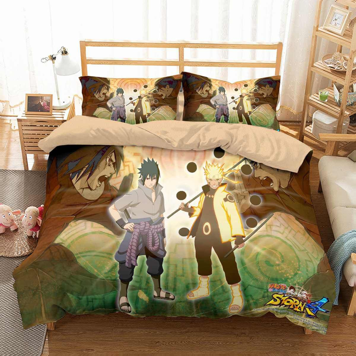3d customize naruto bedding set duvet cover set bedroom