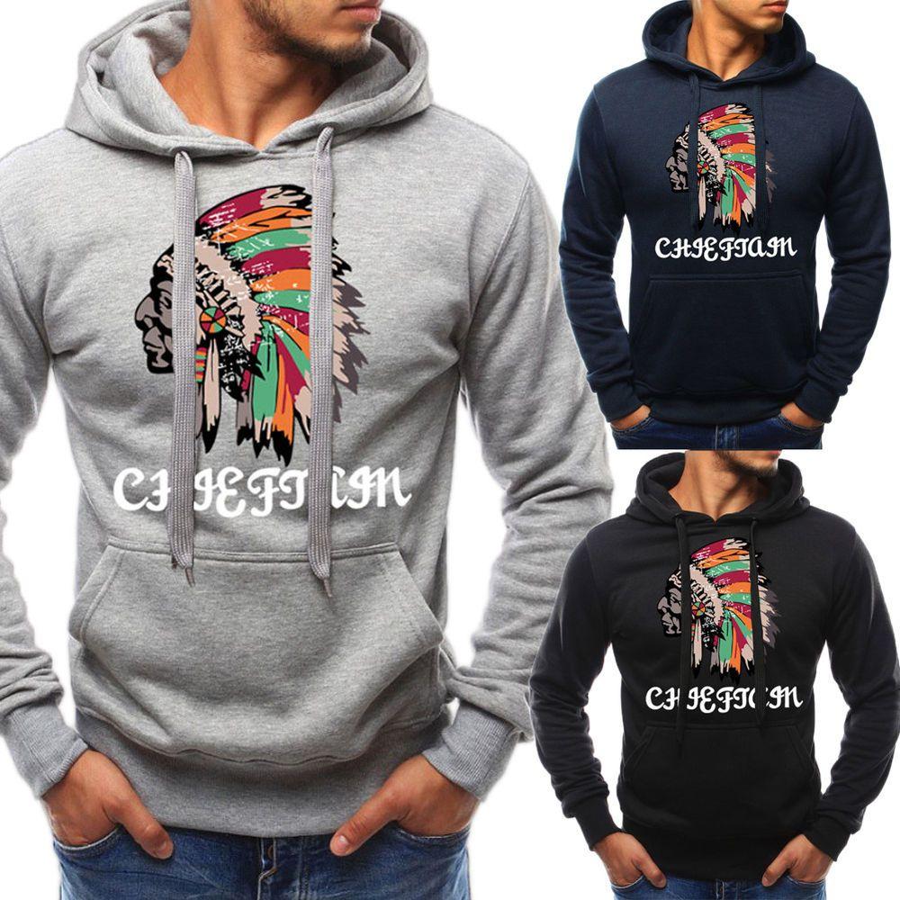 Men Basic Pullover Shirts Casual Long Sleeve Hoodie Sweatshirt Slim Sweats Tops