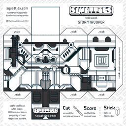 Stormtrooper Character Paper Toy Squatties Star Wars Origami Star Wars Diy Paper Toys