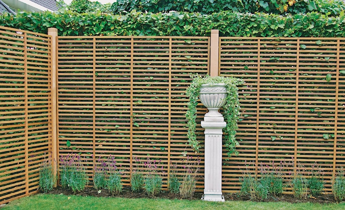 Rankzaun Bangkirai Sichtschutzzaun Gartenzaun Zaunelement Holzzaun