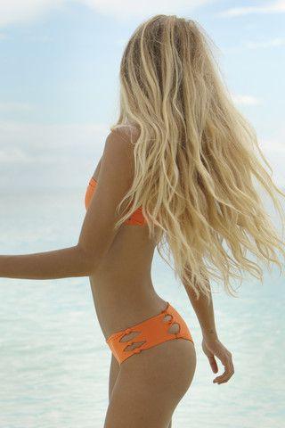 Top Online Swimwear Stores @ www.AmericasMall.com/categories/swimwear.html #swimwear Mikoh Swimwear 2014 - Hanalei Bikini Bottom / Sunrise - $100