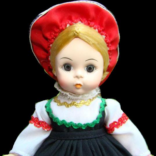 1982 Madame Alexander Finland International Doll 8 Inch HP SL in Mint in Box 561