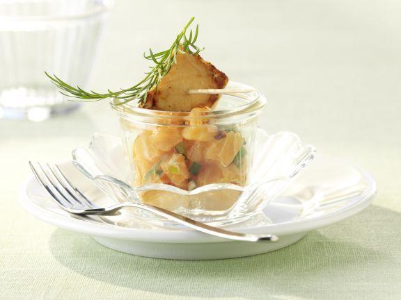 Variationen vom Lachs ist ein Rezept mit frischen Zutaten aus der Kategorie Fisch. Probieren Sie dieses und weitere Rezepte von EAT SMARTER!