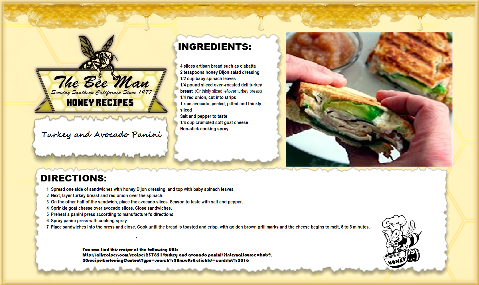 Here's a great way to enjoy leftover turkey meat in this yummy panini recipe!