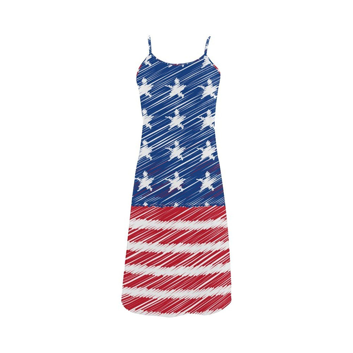 Women's Vintage Distressed American Flag Stars Stripes Polyester Casual Slip Dress *** This is an Amazon Affiliate link. Check this awesome product by going to the link at the image.
