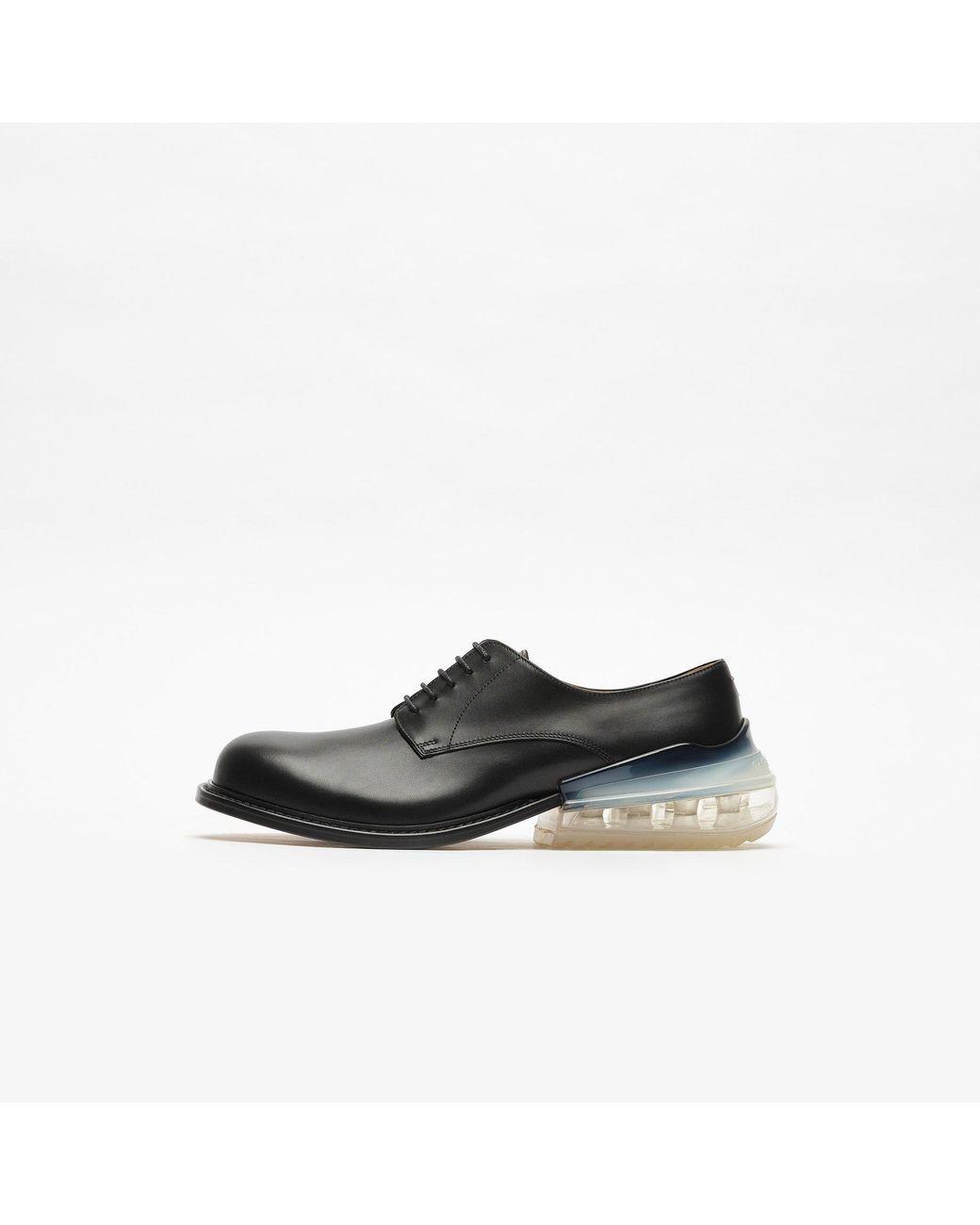 Maison Margiela Black Dress Shoe With Rear Bubble Sole For Men Black Dress Shoe Mens Black Dress Shoes Leather Dress Shoes [ 1300 x 1040 Pixel ]