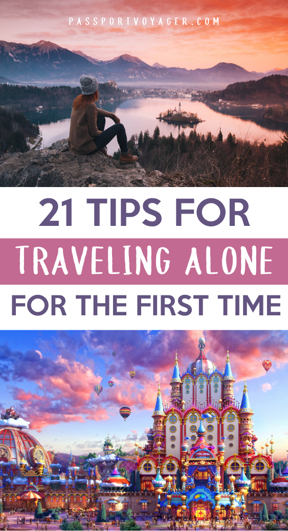 Want to learn how to travel alone and actually enjoy it? When you're traveling solo, you often encounter unique challenges and situations, but they don't have to be scary! These 21 smart tips from experienced solo travelers will help make your whole trip much more safe and fun. #solotravel #traveltips #travelhacks #travel