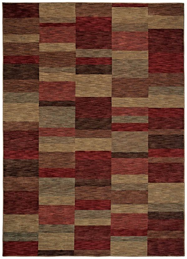 Shaw Modern Works Parallel Cranberry 00800 Rugs Shaw Rugs Area Rugs