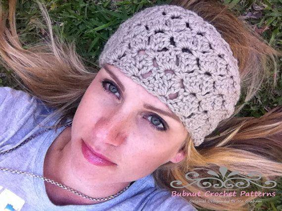 Crochet Headband Pattern - No.804 Tulip Hair Wrap Head Band Pattern ...